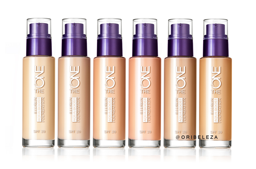 Base de Cor com FPS 20 Illuskin Aquaboost The ONE da Oriflame