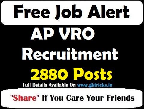 AP VRO Recruitment 2880 Posts Notification 2019