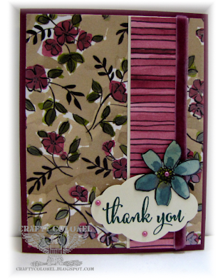 CraftyColonel Donna Nuce for Cards in Envy challenge.  Stampin Up Share What you Love
