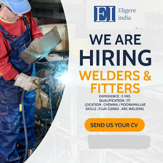 Eligere India Recruitment For ITI Fitter and ITI Welder Experienced Candidates For South India Positions