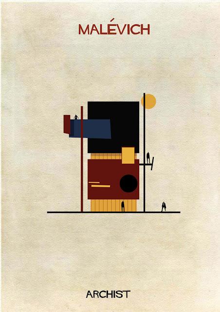 もし有名画家が建築物を作ったら?ゴッホ、ピカソ、ダリの建築? マレーヴィチ