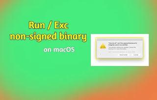 thumbnail non-signed binary running of macOS