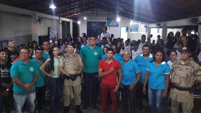 PM realiza visita cidadã na escola estadual Ulisses Guimarães na Vila Tocantins em Esperantina