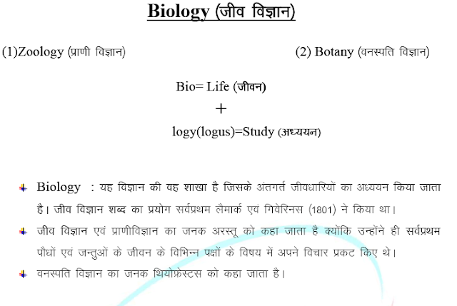 Biology Short Notes in Hindi for Competitive Exams PDF Download