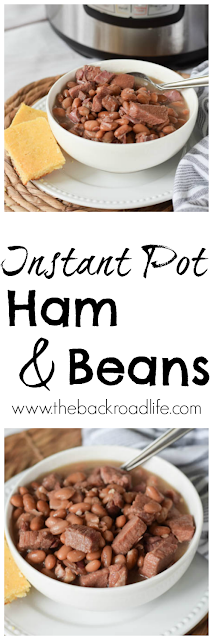 Instant Pot Ham and Beans Pinterest