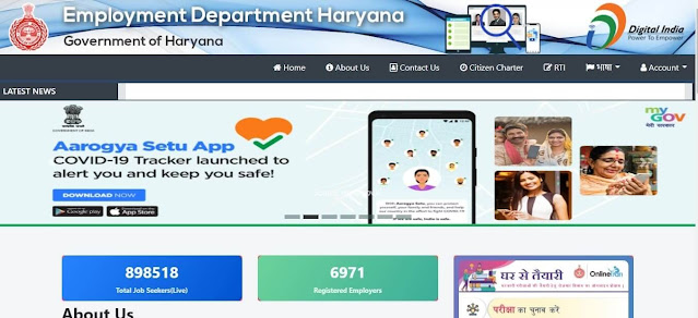 हरियाणा रोज़गार मेला haryana rojgar mela official portal