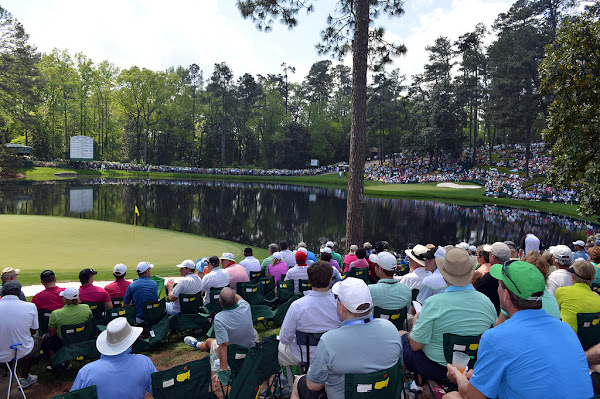 Scene from a Masters Par 3 Contest