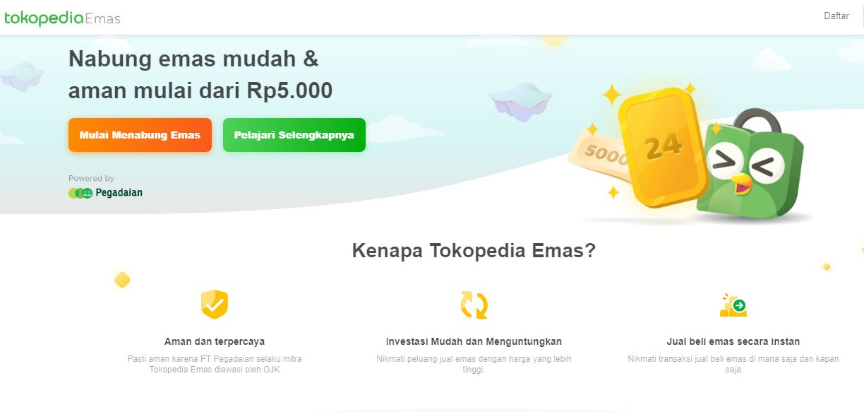 Cara Investasi Emas di Tokopedia, Nabung Emas Online