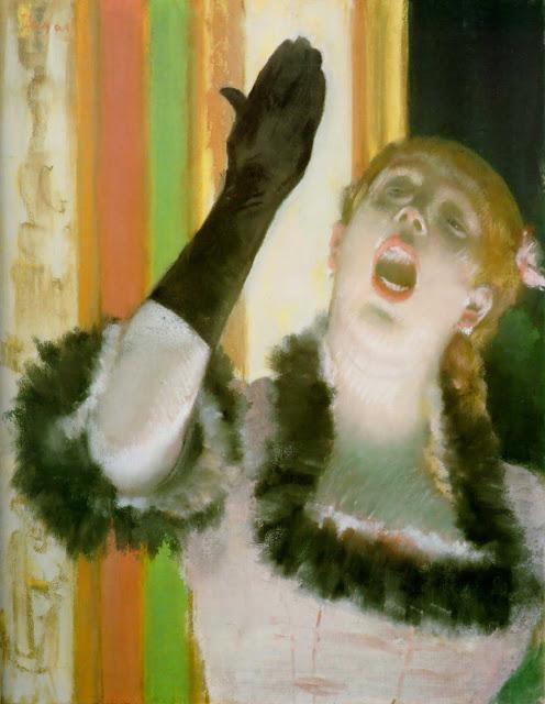 Эдгар Дега - Певица с чёрной перчаткой (1878)