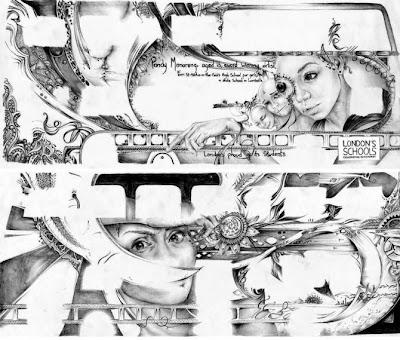 Retrato a lápiz de TS Abe.