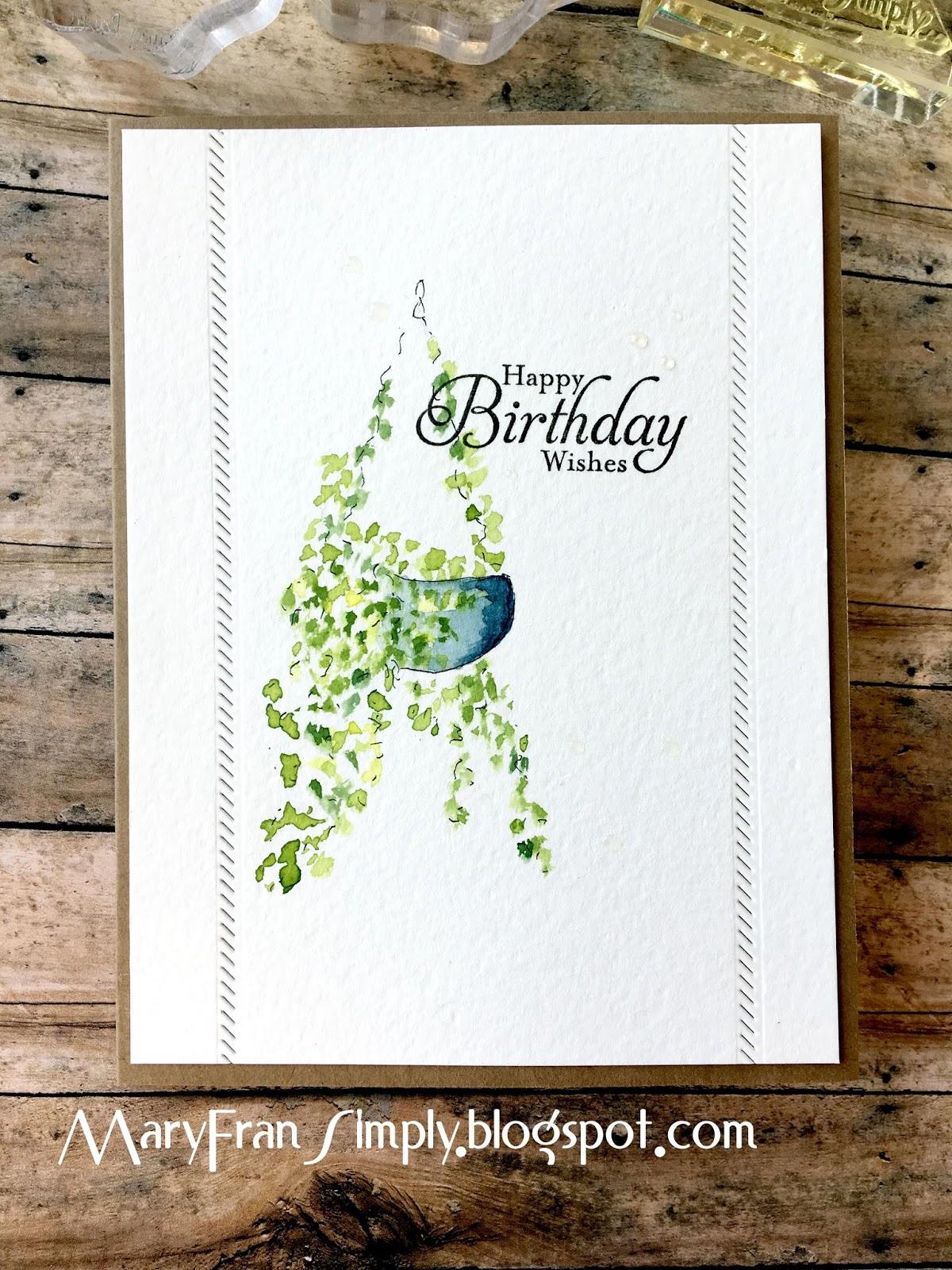 MaryFran Simply Watercolor Birthday Card
