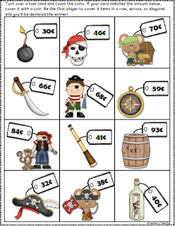 Pirates Treasure for Counting Coins