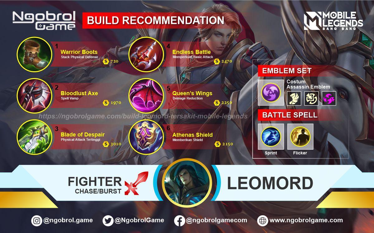 Build Leomord Top Global Tersakit Mobile Legends