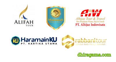Alifah Tour, Harmainplus, Alhijaz Indowisata, Rabbani Tour, Khazzanah Tour