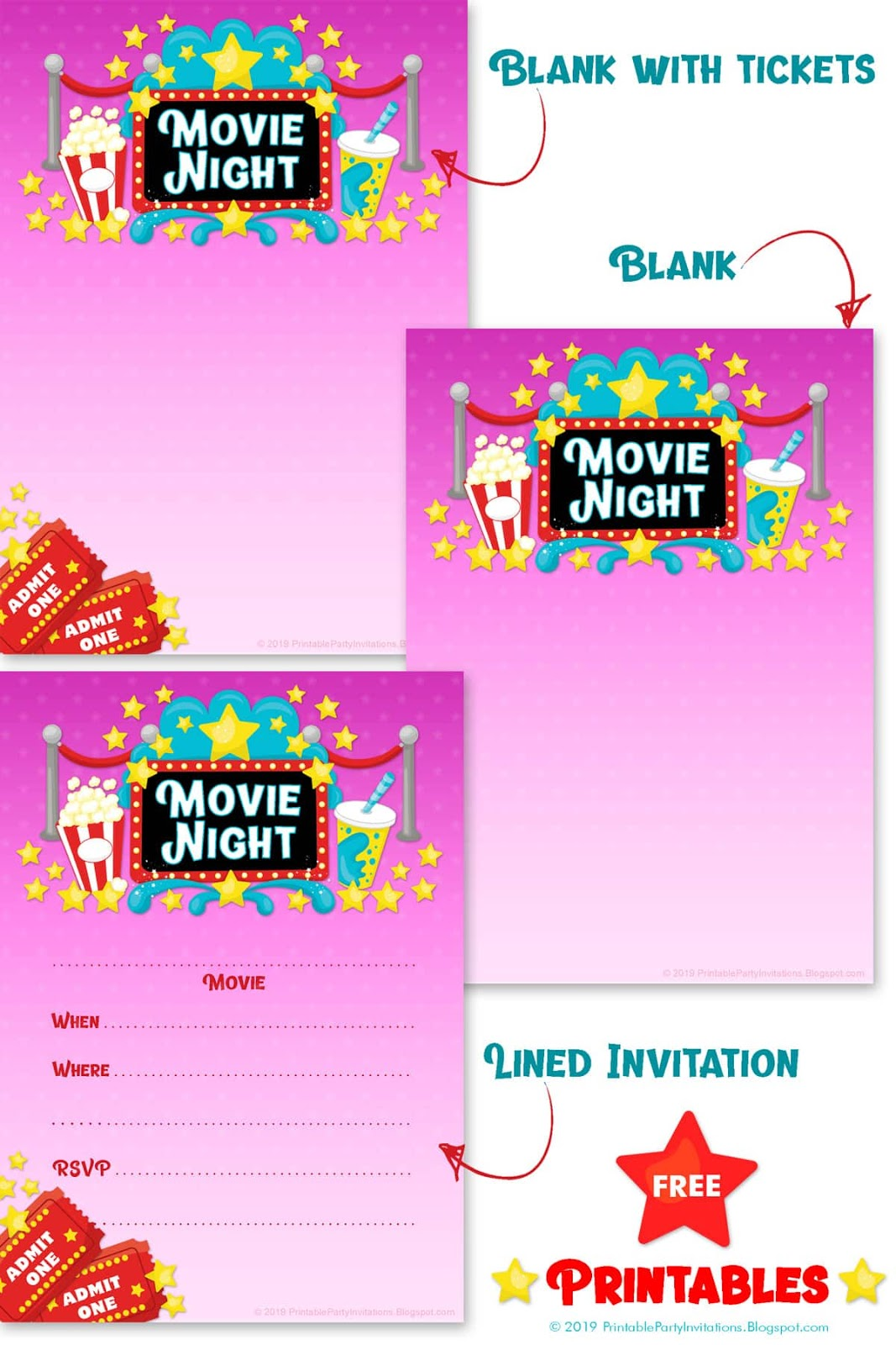 photo about Movie Night Invitations Free Printable called Cant track down subsution for tag [short article.overall body]--\u003e Video Evening