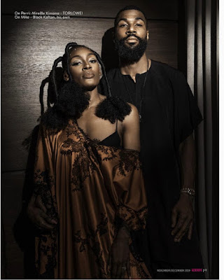 #BBNaija Mike Edwards and wife Perri cover Genevieve Magazine latest issue