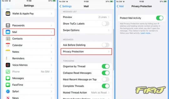 Comment activer la protection de la confidentialité du courrier dans iOS 15