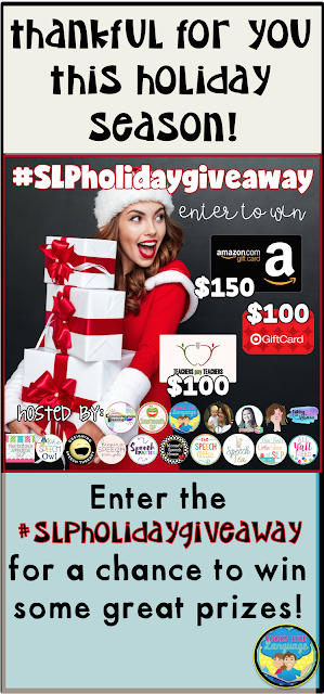 Join the #SLPholidaygiveaway from 11-25-17 to 11-26-17! Good luck!