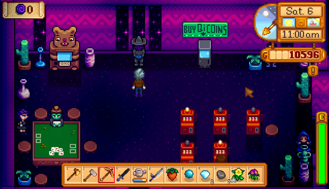 cant get into casino stardew valley