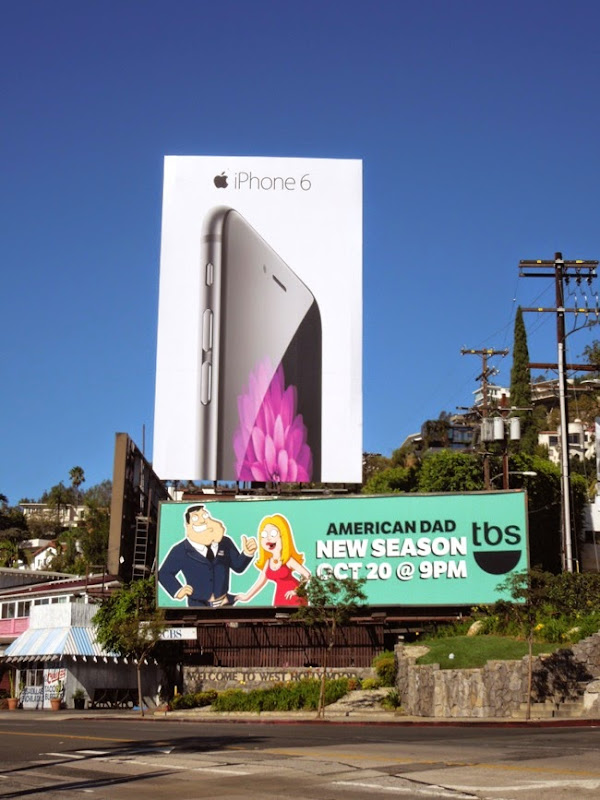 Giant iPhone 6 launch billboard Sunset Strip