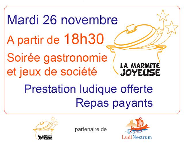 Affiche de Novembre en Jeux à la Marmite Joyeuse