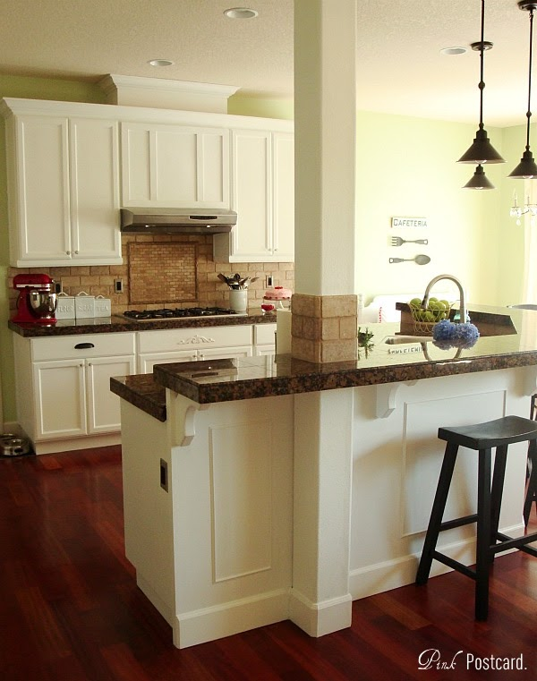 Wood Kitchen Cabinets Updated To White