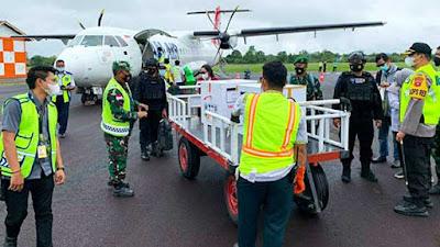 NAM Air Antarkan Vaksin Covid-19 ke Berbagai Wilayah di Kalimantan Barat