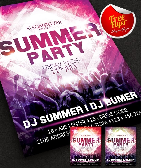 Summer Party Design Free Flyer Template