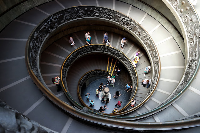 Escalier Vatican, Rome, Roma, Blog, Voyage, basilique, centre historique, Vatican, Ottaviano-san Pietro, art, musée, oeuvre