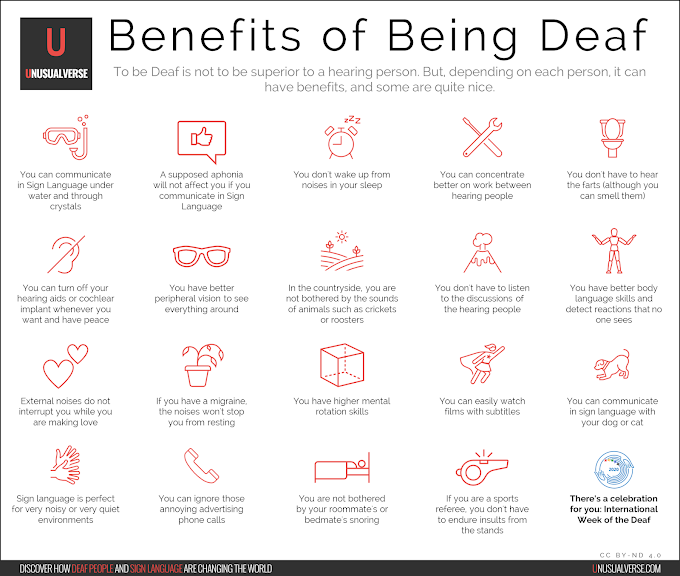 Infographic: Benefits of Being Deaf