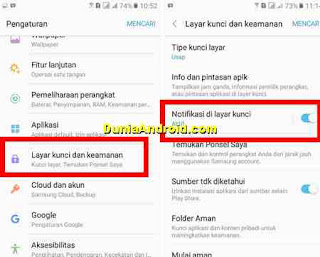 mendisable Notifkasi di layar Lock HP Samsung j2 prime