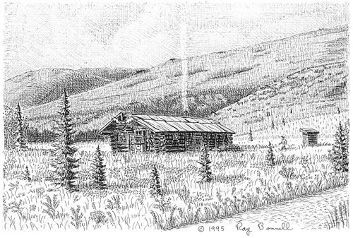 Sketches Of Alaska: Kantishna's Busia Cabin Exudes Alaskan