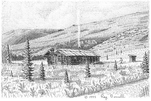 Sketches Of Alaska Kantishna S Busia Cabin Exudes Alaskan