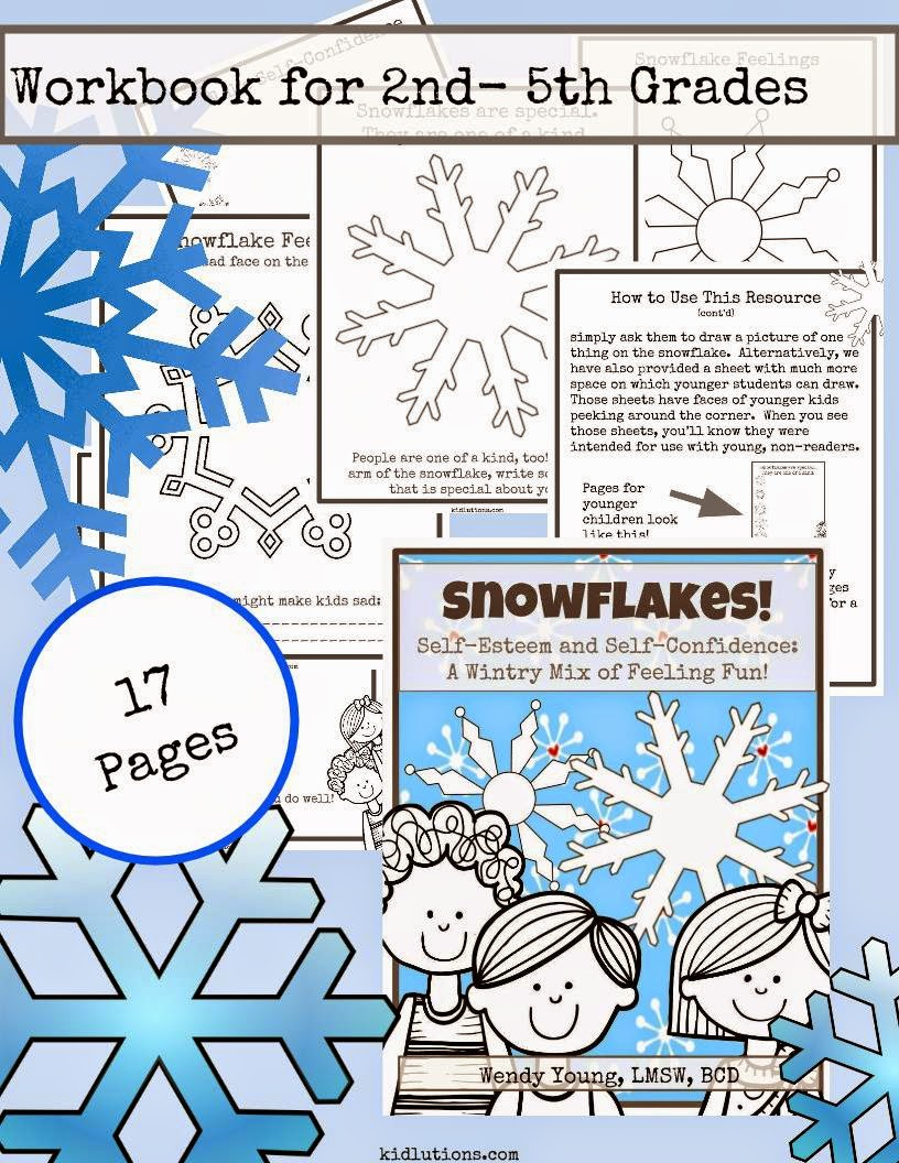Workbooks self care worksheets : Snowflakes! Self-Esteem and Self-Confidence: A Wintry Mix of ...