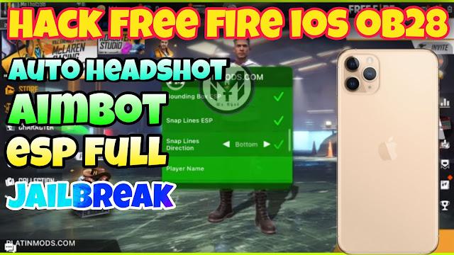 Hack ff ios ob28 auto headshot ,aimbot, esp