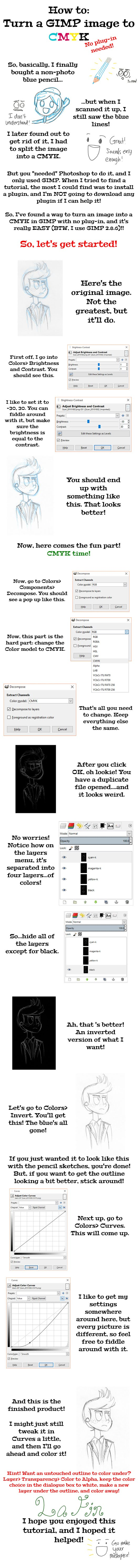 How to Remove Non-Photo Blue in GIMP