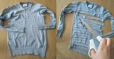 Włóczka DIY z ubrań upcykling - Adzik tworzy