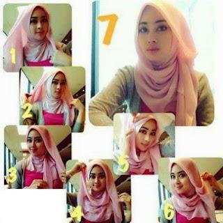 cara memakai hijab segitiga terbaru