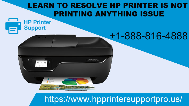Learn to resolve HP printer is not printing anything issue