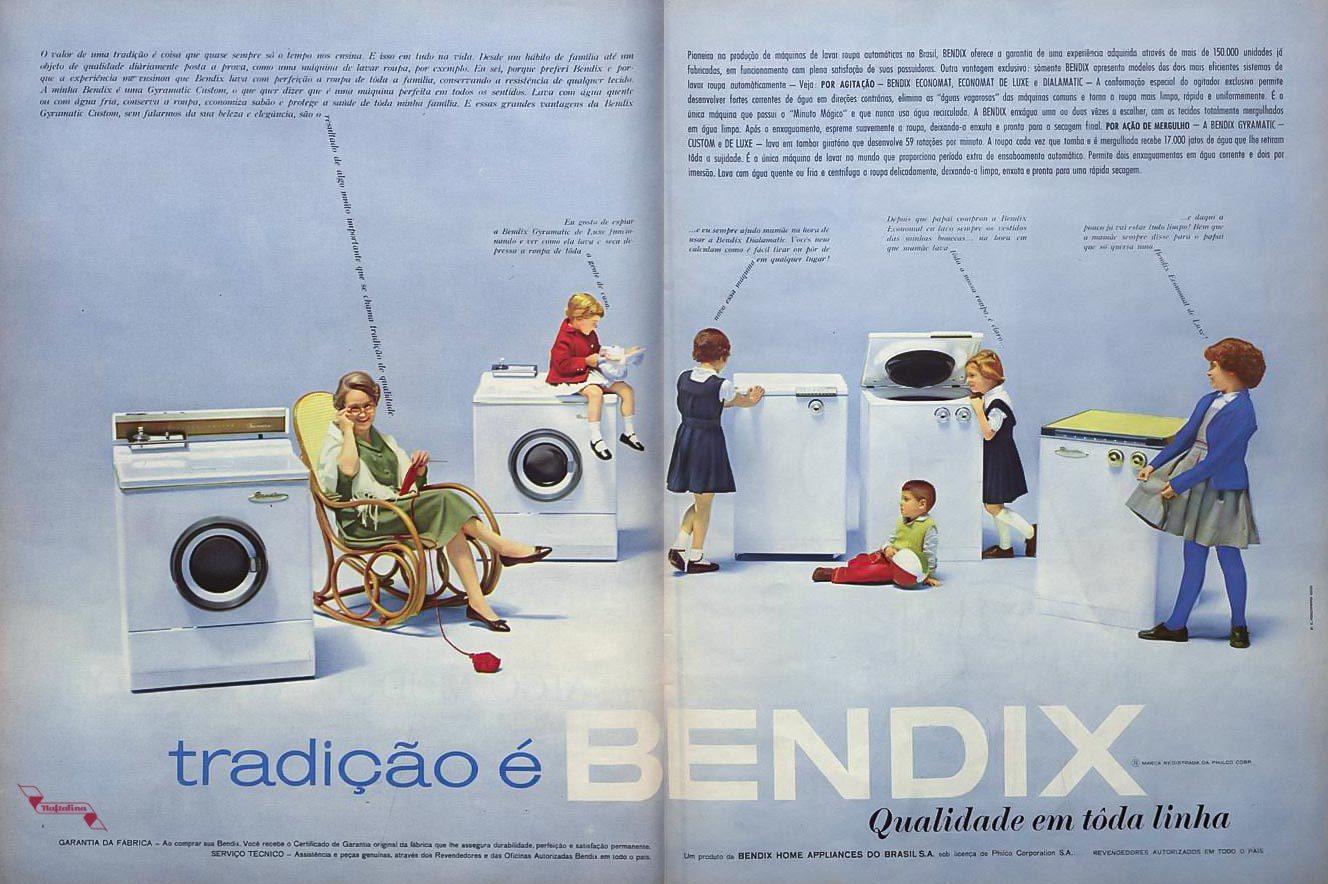 Anúncio de 1961 promovendo a máquina de lavar Bendix