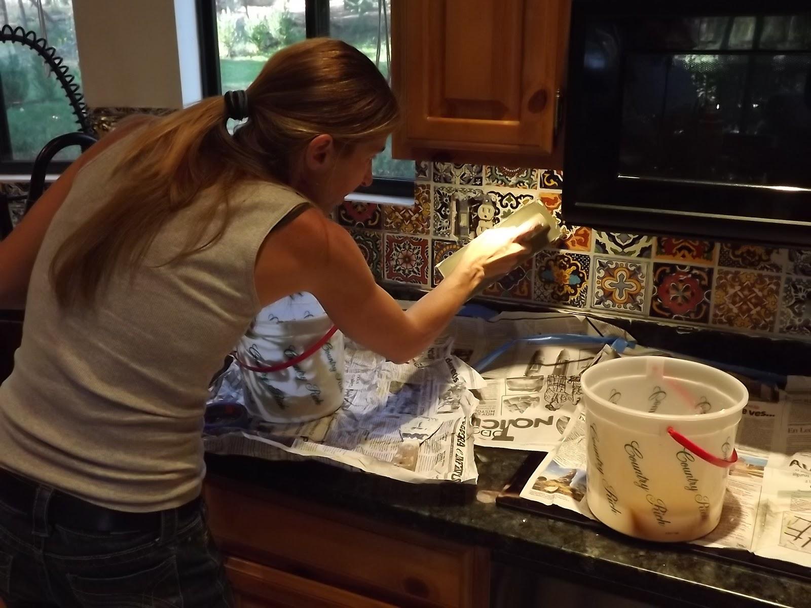 How To Remove Tile Backsplash >> Dusty Coyote: Mexican Tile Kitchen Backsplash DIY