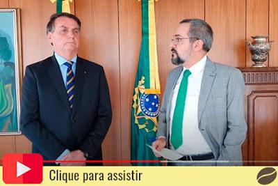 Bolsonaro e Weintraub. Café com Jornalista
