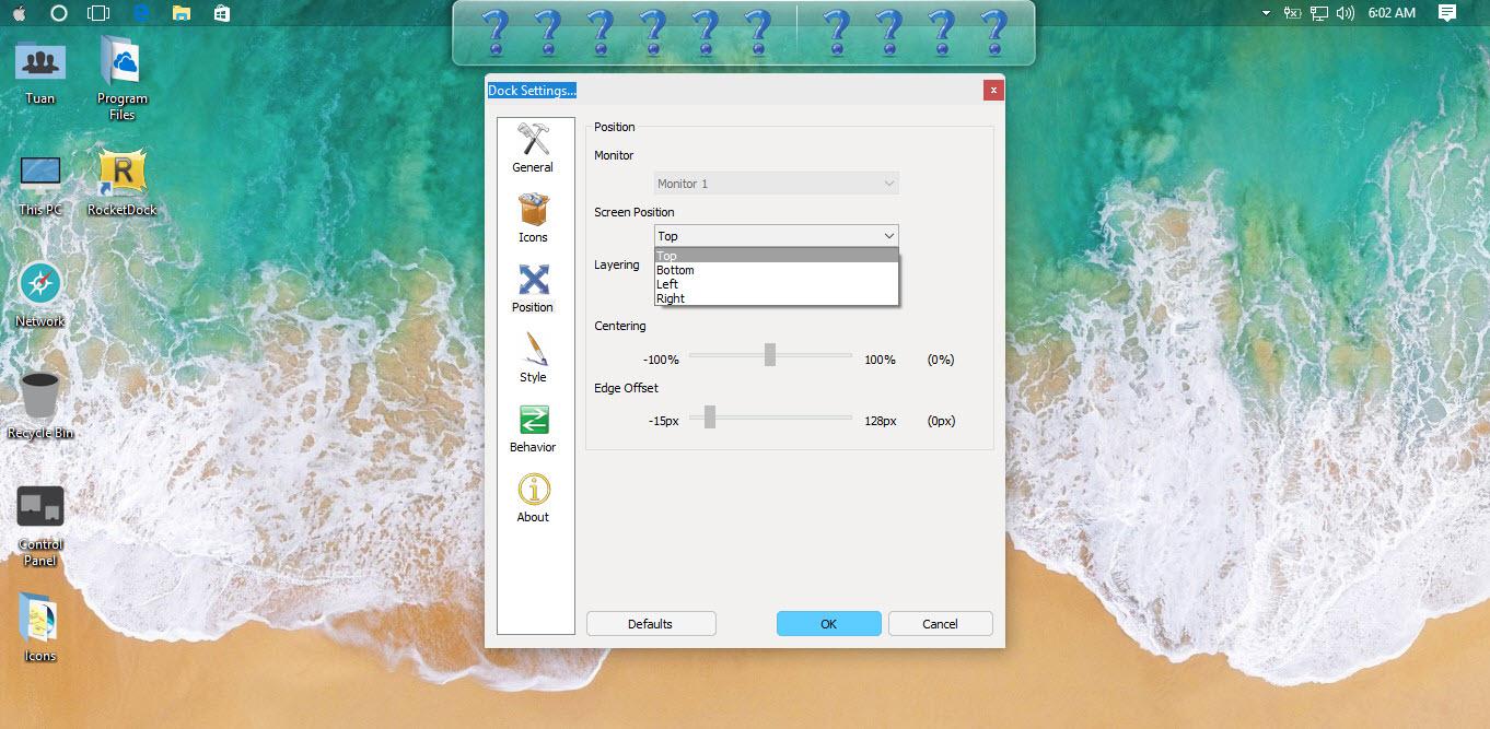 Hướng dẫn ghim ứng dụng Windows 10 vào RocketDock - Ảnh 5