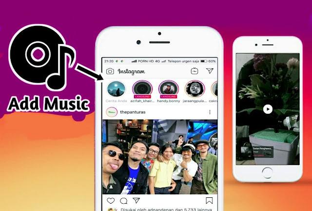 Cara membuat insta story gambar bermusik di Instagram