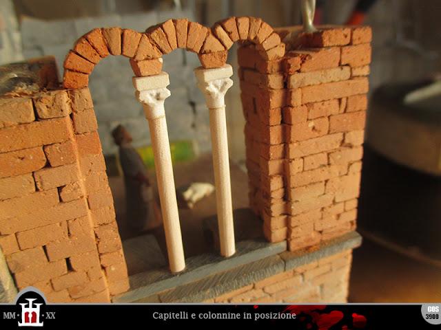 Le colonne in posizione