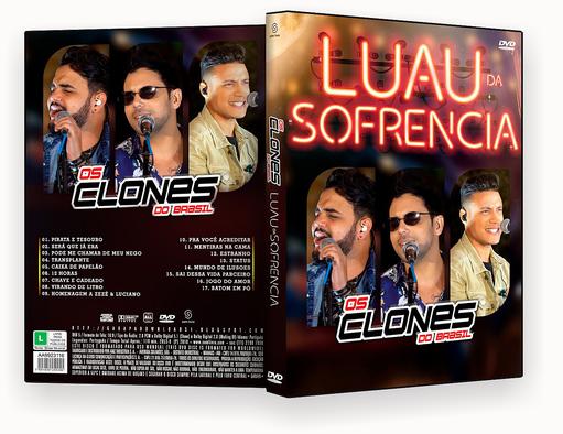 CAPA DVD – Os Clones Do Brasil Luau Da Sofrência – ISO
