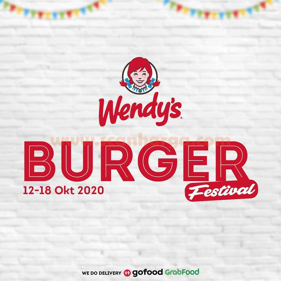 Promo Wendys Burger Festival Periode 12 - 18 Oktober 2020