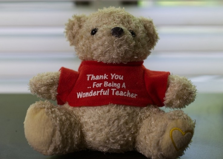 Thank you note for teacher to show appreciation