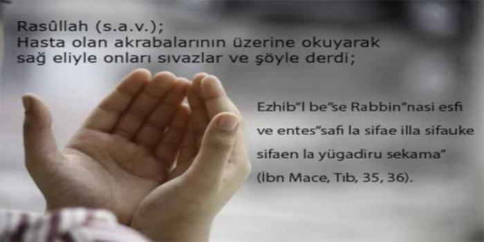 peygamberimizin şifa duası