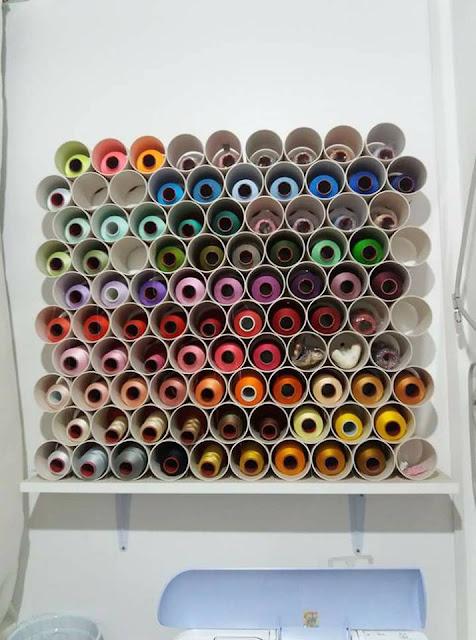 Como guardar cone de linha de bordar  por Leidi Anny Butkowski